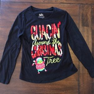 Justice Holiday Long Sleeve Tee sz 7